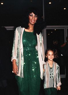 Donna Summer with her daughter Mimi