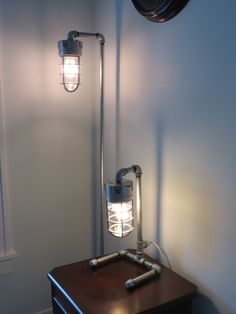 Tall industrial floor lamp and table lamp combo by LoftyLights, $359.00