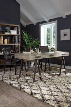 "Joli 65"" Steel + Wood Desk"