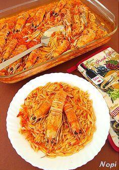 Γιουβέτσι με καραβίδες Greek Recipes, Fish Recipes, Seafood Recipes, Vegetarian Recipes, Snack Recipes, Cooking Recipes, Healthy Recipes, Greek Meze, Greek Cooking