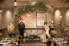 MORE FASHIONABLE! MORE FUN! / WEDDING | ARCH DAYS Wedding Decorations, Table Decorations, Beauty Studio, Bridesmaid Dresses, Wedding Dresses, Simple House, Banquet, More Fun, Backdrops