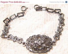 Vintage Art Deco Sterling Silver with by ViksVintageJewelry, $34.99