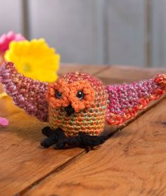 """Nite Owl - Free Amigurumi Pattern - PDF File click """" download Printable Instructions """" below Owl picture"""