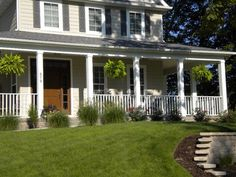 At greatrailing.com we offer all the materials needed to compelte your front porch! You can buy cheap vinyl railings and columns, which will give your house a great look. All of our railing is ICC certified and also tested at a commercial grade so it will pass all town inspections! Contact us today for more information!