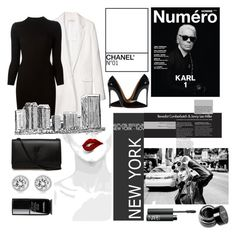 """""""NYC"""" by lemerino ❤ liked on Polyvore featuring Reed Krakoff, Maison Margiela, Christian Louboutin, NARS Cosmetics, Yves Saint Laurent, Michael Kors, NYX and Chanel"""