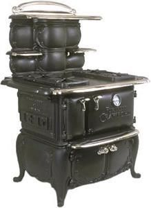 Conversions Available to All Cook Stoves - current inventory : Converted Crawford Fortress Antique Cook Stove Antique Kitchen Stoves, Antique Wood Stove, Vintage Kitchen Appliances, How To Antique Wood, Wood Burning Cook Stove, Wood Stove Cooking, What's Cooking, Arts And Crafts House, Home Crafts