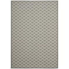 @Overstock.com - Dark Grey/ Beige Indoor Outdoor Rug (8' x 11'2) - Add a warm touch to your home or an outdoor living space with this durable indoor/outdoor rug. Constructed of polypropylene, this area rug is capable of resisting damage from sun, mildew, and water. The geometric design will complement any decor.   http://www.overstock.com/Home-Garden/Dark-Grey-Beige-Indoor-Outdoor-Rug-8-x-112/6511748/product.html?CID=214117 $169.41