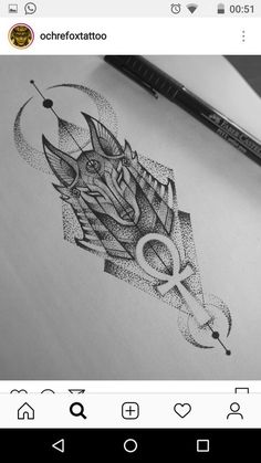 Fantastic cute tattoos are offered on our internet site. Take a look and you wont be sorry you did. Gott Tattoos, Leg Tattoos, Arm Tattoo, Body Art Tattoos, Sleeve Tattoos, Tattoo Art, Anubis Tattoo, Tattoo Sketches, Tattoo Drawings