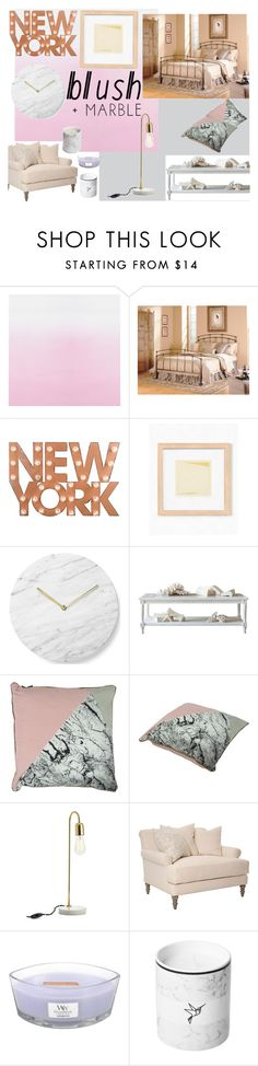 """""""Blush & Marble"""" by ashstylist101 on Polyvore featuring interior, interiors, interior design, home, home decor, interior decorating, Fashion Bed Group, Dot & Bo, Menu and Bloomingville"""