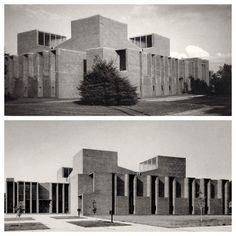 Louis Kahn First Unitarian Church Rochester, NY 1962 #arquitecturaiglesias #religiousarchitecture