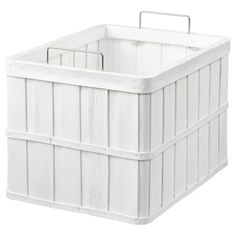 IKEA - BRANKIS, Basket, white, Storing your belongings in baskets makes it easier to be organized and find what you're looking for. This basket fits the HEMNES storage series and other furniture/storage furniture with shelves which are at least deep. Hemnes, Liatorp, At Home Furniture Store, Modern Home Furniture, Furniture Storage, Vintage Wire Baskets, Harvest Basket, Home Grown Vegetables, Ikea Family