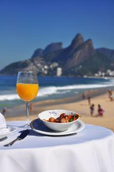 from a restaurant, ipanema beach, rio de janeiro , brasil