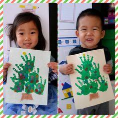 Easy Handprint Christmas Tree Craft