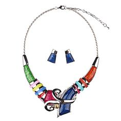 Girl Era Unique Colorful Resin Necklace Bib Statement Necklaces & Earring Set(red) Girl Era http://www.amazon.com/dp/B0165E63EQ/ref=cm_sw_r_pi_dp_KRzCwb00VBVPC