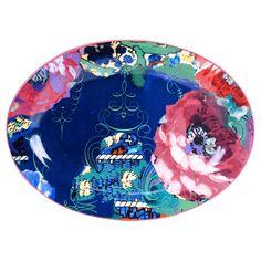 Certified International Reverie by Tracy Porter Oval Ceramic Serving Platter 15.75''x11.75'' Blue