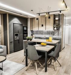 Kitchen Design Open, Luxury Kitchen Design, Luxury Kitchens, Kitchen Layout, Interior Design Kitchen, Home Kitchens, Apartment Kitchen, Living Room Kitchen, Home Decor Kitchen