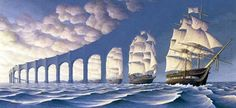 Canadian artist Robert Gonsalves has taken his passion for the work of Salvador Dali and Rene Magritte to the next level with these surreal optical illusions. Optical Illusion Paintings, Amazing Optical Illusions, Robert Gonsalves, Magic Realism, Realism Art, Illusion Art, Illusion Drawings, Salvador Dali, Canadian Artists