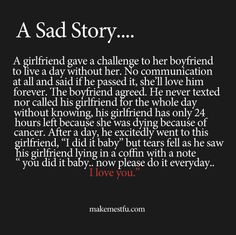 I'm done. That's too sad I literally almost cried.
