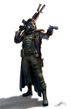 ArtStation - The Zombie Hunter, Patrick Reinemann Post Apocalypse, Apocalypse World, Cthulhu, Character Concept, Character Art, Concept Art, Character Ideas, Mad Max, Apocalypse Character