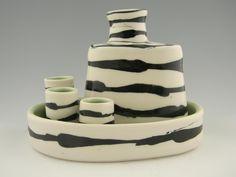 Porcelain Whiskey Set by Amy Manson Pottery Leesburg, VA