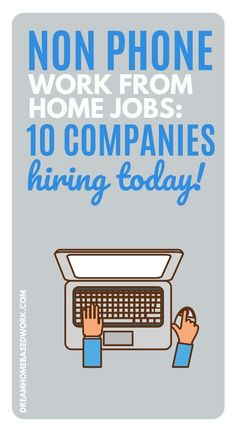 Are you searching for non-phone work from home jobs? As an alternative to home-based phone jobs, you can try non-phone jobs that involve typing, digital services, or even chat-based support. These 10 companies are hiring! Earn Money Online Fast, Earn Money From Home, Work From Home Companies, Work From Home Jobs, Companies Hiring, Jobs Hiring, Amazon Work From Home, Home Based Work, Typing Jobs