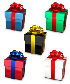 Gift Box — Photoshop PSD #object #new year • Available here → https://graphicriver.net/item/gift-box/8889694?ref=pxcr
