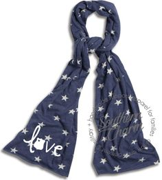 Southern Charm Designs - Star Spangeled Scarf - Love Leo, $20.00 (http://www.shopsoutherncharmdesigns.com/star-spangeled-scarf-love-leo/)