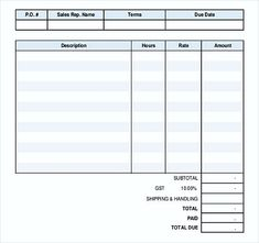sample invoice template word