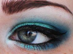 Sailor Moon: Sailor Neptune Inspired Eye Makeup