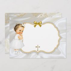 Baby Girl Baptism Save Date White Gold Cross Save The Date Baptism Banner, Christening Favors, Naming Ceremony Invitation, Baby Shower Labels, Glitter Frame, Baby Girl Baptism, Baby Clip Art, Baby Hats Knitting, Beautiful Baby Girl