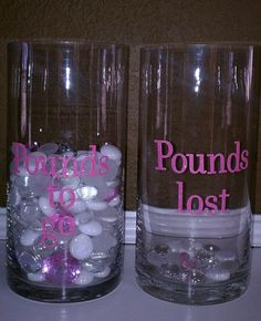 Weight Loss Motivation Jars.This looks like a great way to keep track and motivate!