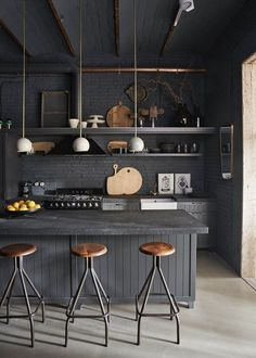 "Glamorous Industrial apartment The apartment below is a fresh mix of industrial style meets glamorous. It comes from Heart Home magazine ""From the studi"
