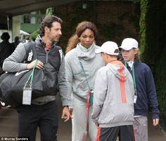 Serena Williams arriving at Wimbledon with boyfriend.