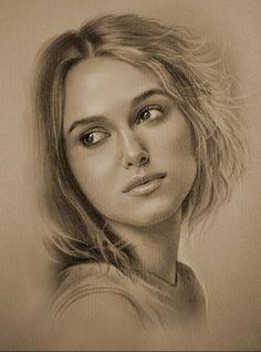 Keira Knightley (portrait au crayon)