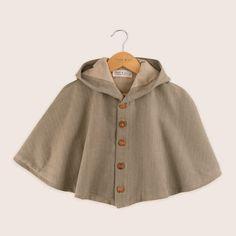 Pippin Cape by Twee & Co Organic Boutique, made in New Zealand from organic cotton. Cotton Linen, Boy Fashion, Boy Or Girl, Cape, Organic Cotton, Nostalgia, Rain Jacket, Windbreaker, Raincoat