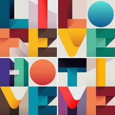 Typeverything.com - Geometric type by Federico Landini & Ray Oranges.