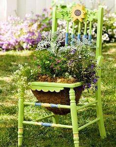 Great Repurposed Garden Decor Ideas                                                                                                                                                                                 More