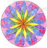 Rangoli Designs | Montessori Metal Insets | Curvilinear Triangle
