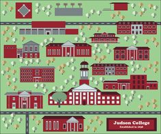 Finished vector map of Judson College. https://www.etsy.com/listing/467949730/vector-map-of-judson-college?ref=pr_shop
