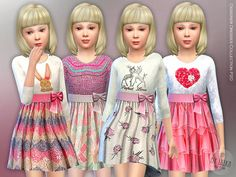 Sims 4 updates: tsr - clothing, female : designer dresses collection by Sims 4 Cc Skin, Sims Cc, Toddler Outfits, Kids Outfits, Sims 4 Cc Kids Clothing, Sims 4 Children, Sims 4 Cc Shoes, Sims 4 Cc Makeup, Sims4 Clothes