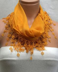 Orange Young Scarf by Winsomescarves $12.00