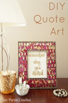 Two Purple Couches DIY Quote Art