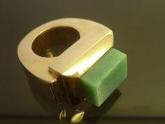 Ring from Ida Elsje, Olive Green Cat #FWD