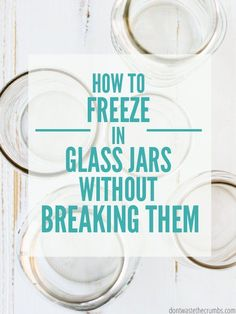 Learn how to freeze