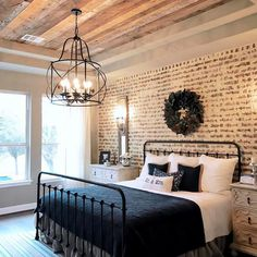 "431 Likes, 14 Comments - Magnolia Realty | Haley Holden (@haley_magnoliarealty) on Instagram: ""I love this room!! I love the accent wall, wood trayed ceiling, light fixture, and pretty much all…"""