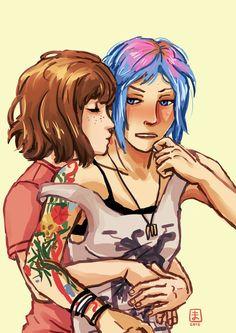 Life Is Strange - Max and Chloe kiss by Maarika.deviantart.com on @DeviantArt