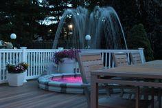 Decorative Fountains, Backyard, Patio, Outdoor Furniture Sets, Outdoor Decor, Light Effect, Rooftop, Terrace, Deck