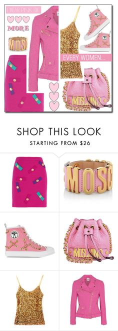 """""""PINK"""" by shoaleh-nia ❤ liked on Polyvore featuring Boutique Moschino and Moschino"""