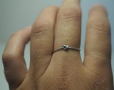 simple silver knot ring, thin minimal look