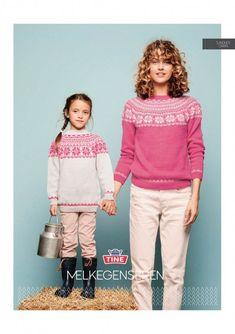 Gratis oppskrift på Melkegenseren | Strikkeoppskrift.com | Bloglovin' Fair Isle Knitting, Knitting Yarn, Hand Knitting, Sweater Knitting Patterns, Knit Patterns, Spring Jackets, Sustainable Clothing, Jacket Pattern, Drops Design